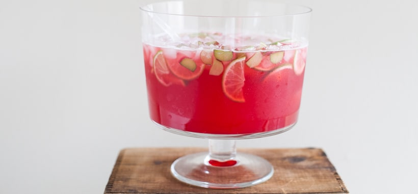 Raspberry-Rhubarb Colins Party Punch