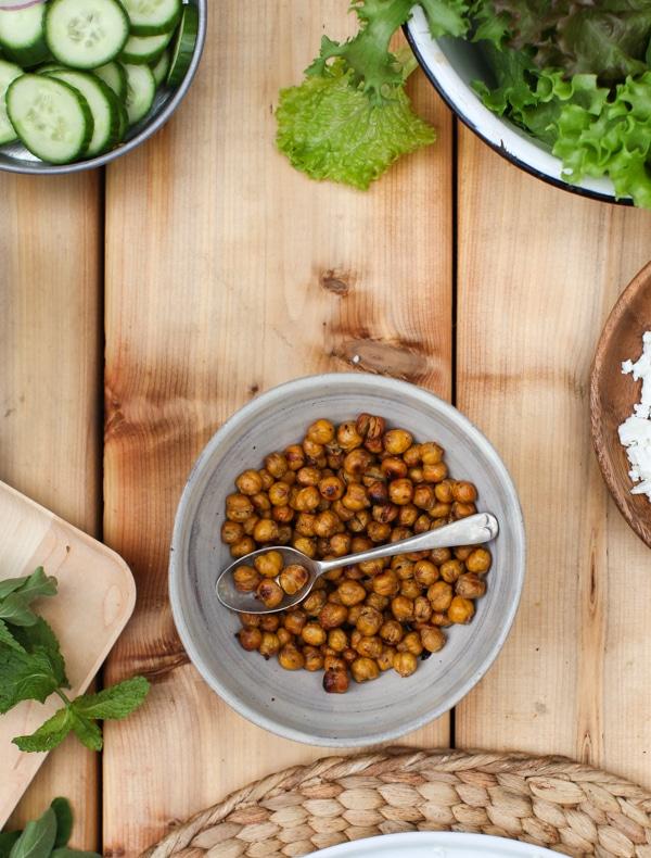 Cumin Roasted Chickpeas   Simple Bites #recipe #snack