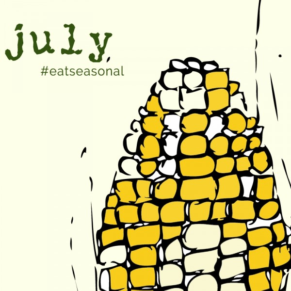 July eat seasonal illustration