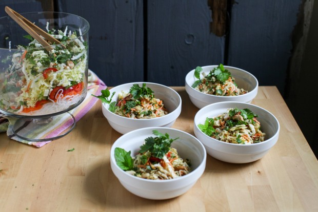 Crunchy Thai Noodle Salad with Peanut Dressing