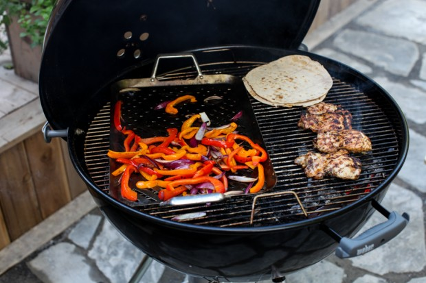 Grilled Chicken & Sweet Pepper Fajitas | Simple Bites #dinner #grilling #chicken