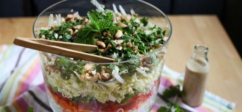 Crunchy Thai Noodle Salad with Peanut Dressing