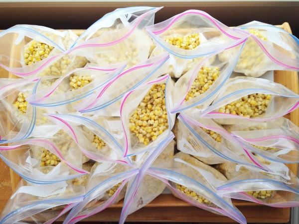 corn in bags