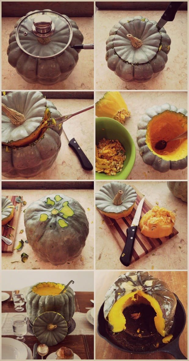 How to make a squash soup tureen | Simple Bites #DIY #soup #thanksgiving #harvest #squash