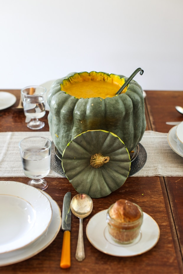 How to make a squash soup tureen | Simple Bites #diy #Thanksgiving #squash