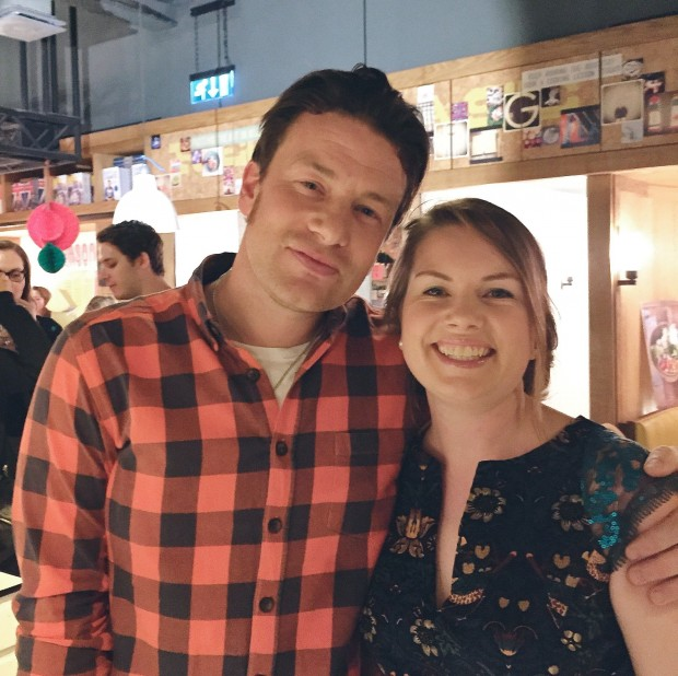 Jamie Oliver and Aimee Wimbush Bourque