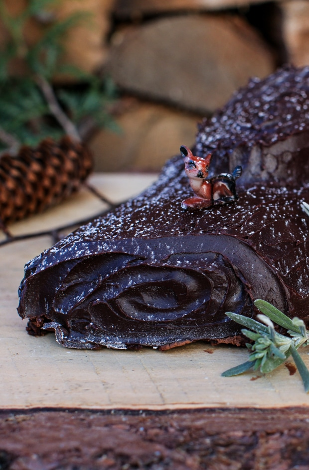 Chocolate Hazelnut Bûche de Noël (Yule Log) | Simple Bites