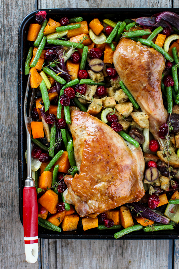 Sheet Pan Turkey Dinner | Simple Bites #dinner #onepan #holiday #turkey