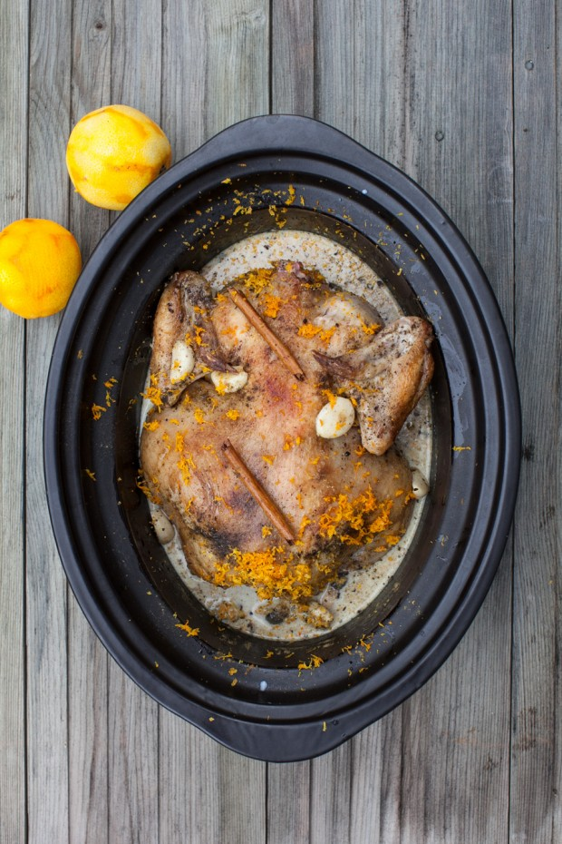 Slow-Cooker Chicken in Milk with Cinnamon and Orange