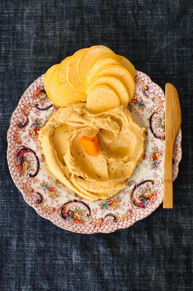 Roasted Turnip Hummus Recipe | Simple Bites #vegan #dip #snack #healthy
