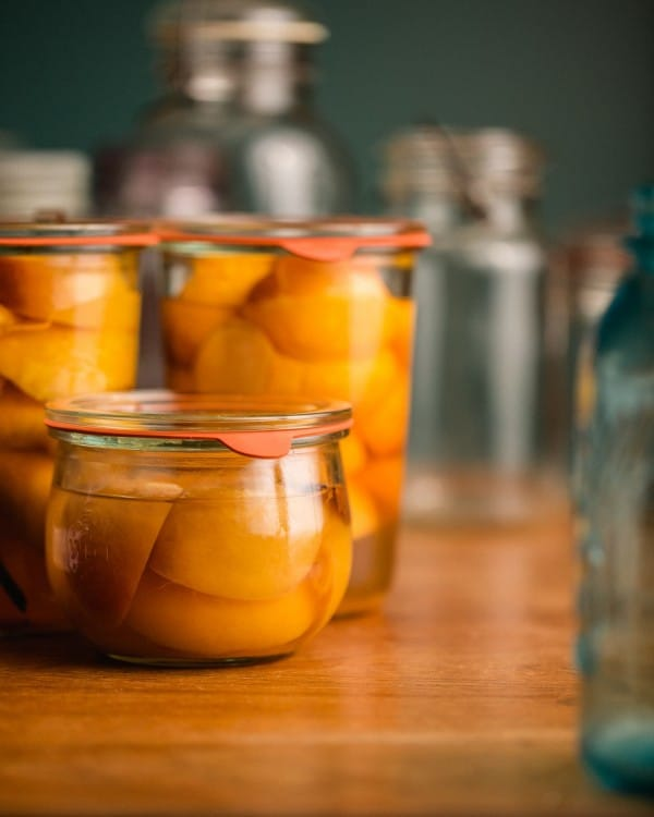 Peach Preserves from Brown Eggs and Jam Jars |Simple Bites | Photo by Tim Chin
