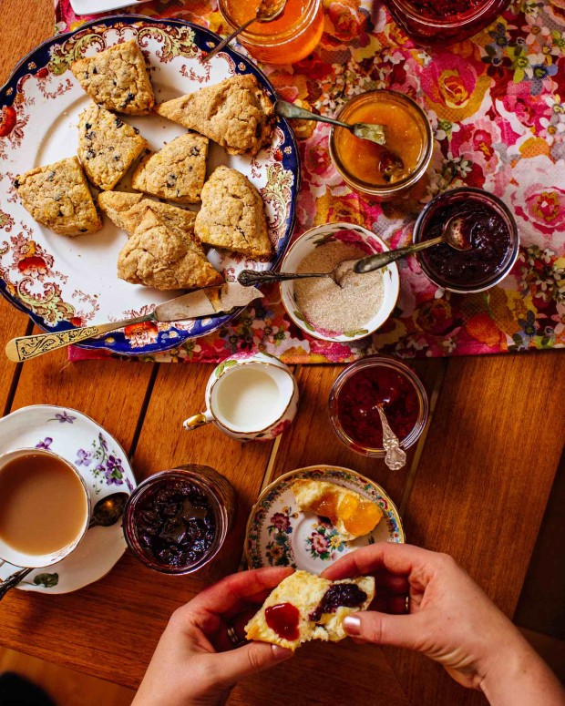 Scones and Jam from Brown Eggs & Jam Jars cookbook