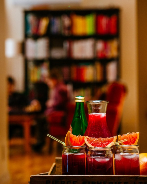 Pomegranate Spritzers from Brown Eggs and Jam Jars |Simple Bites | Photo by Tim Chin