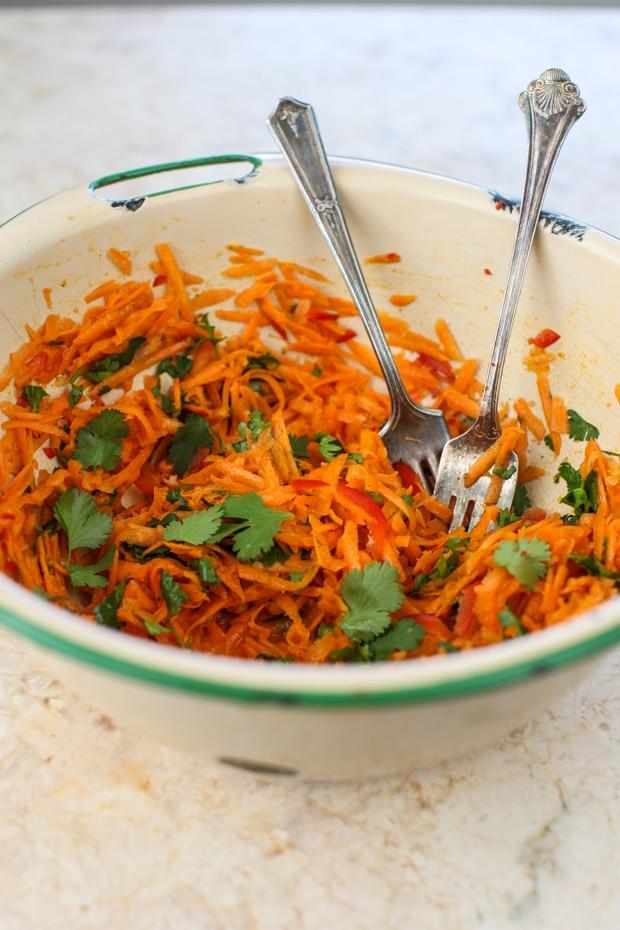 Fresh Carrot Salad with Coriander