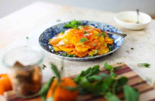 Citrus Salad with Honey-Cinnamon Glaze :: Simple Bites