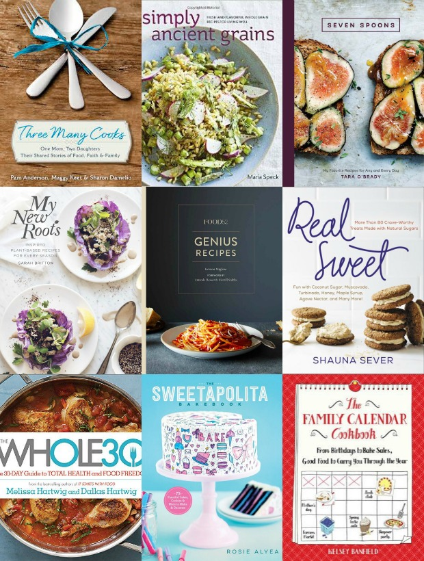Spring Cookbooks Collage