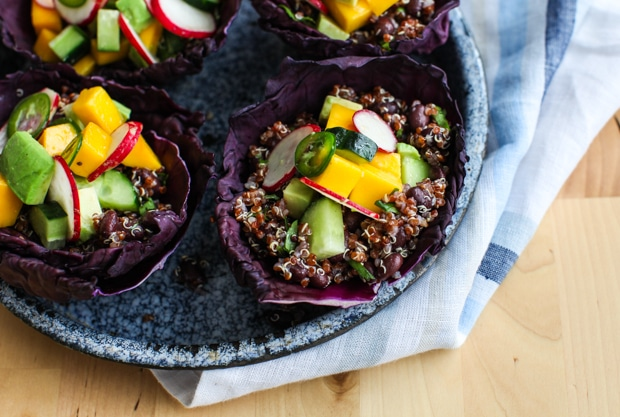 Tangy Quinoa Spring Salad Cups | Simple Bites