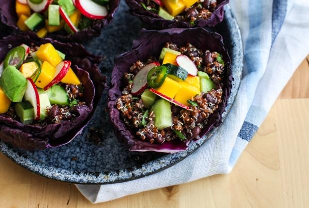 Tangy Quinoa Spring Salad Cups | Simple Bites