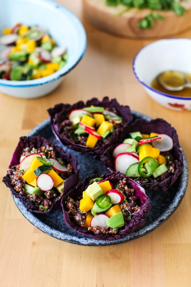 Tangy Quinoa Spring Salad Cups