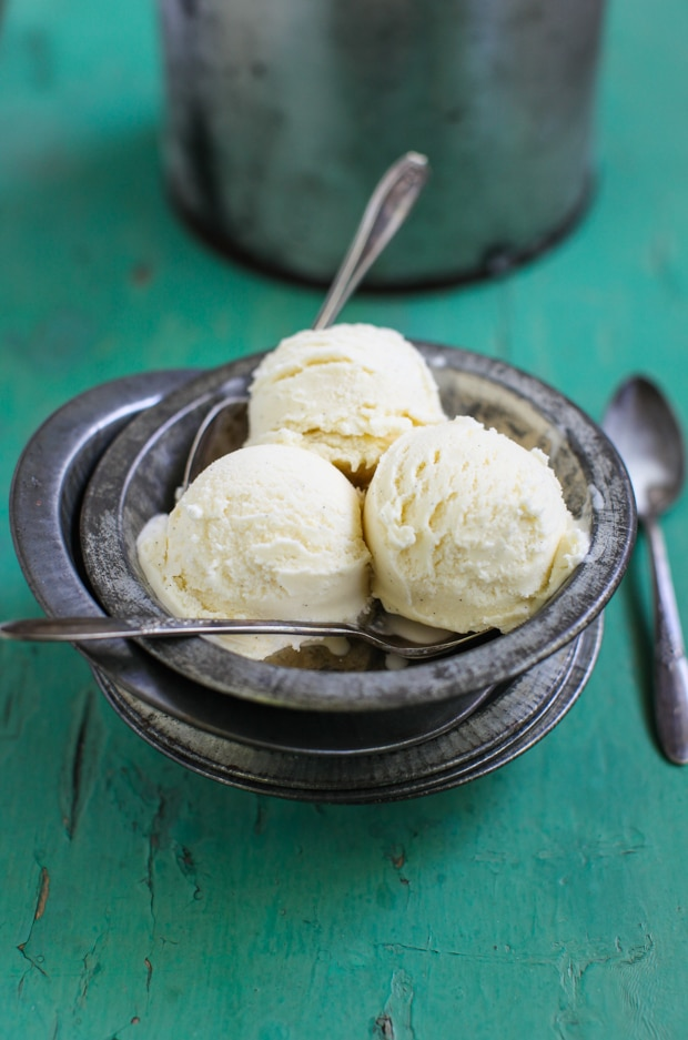 Simple No-Cook Vanilla Bean Ice Cream | Simple Bites #recipe