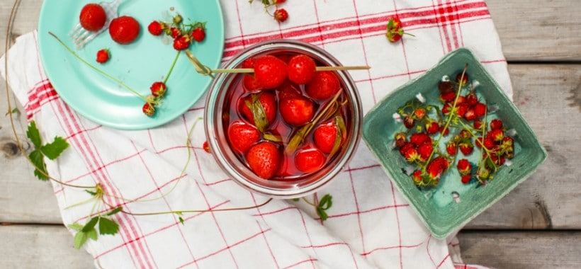 Quick Pickled Strawberries with Black Pepper and Tarragon | Simple Bites #recipe #pickles