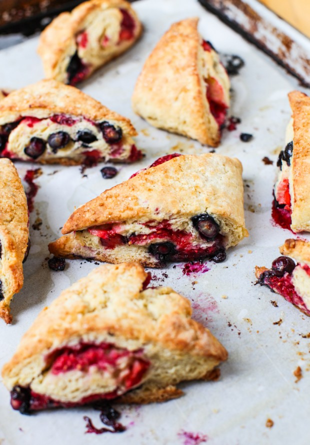 Triple Berry Scones || Simple Bites #baking #