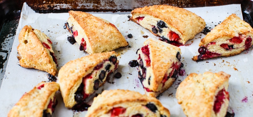 Triple Berry Scones || Simple Bites #baking