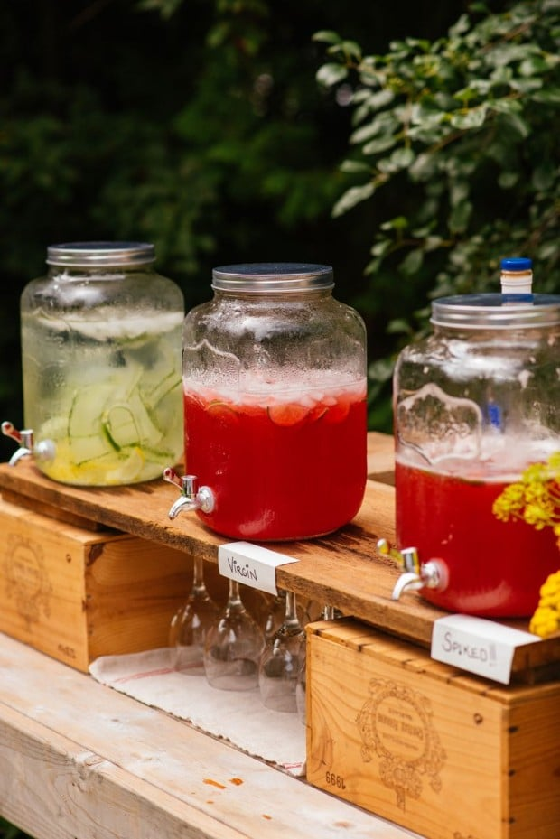 how to set up a functional outdoor bar simple bites entertaining