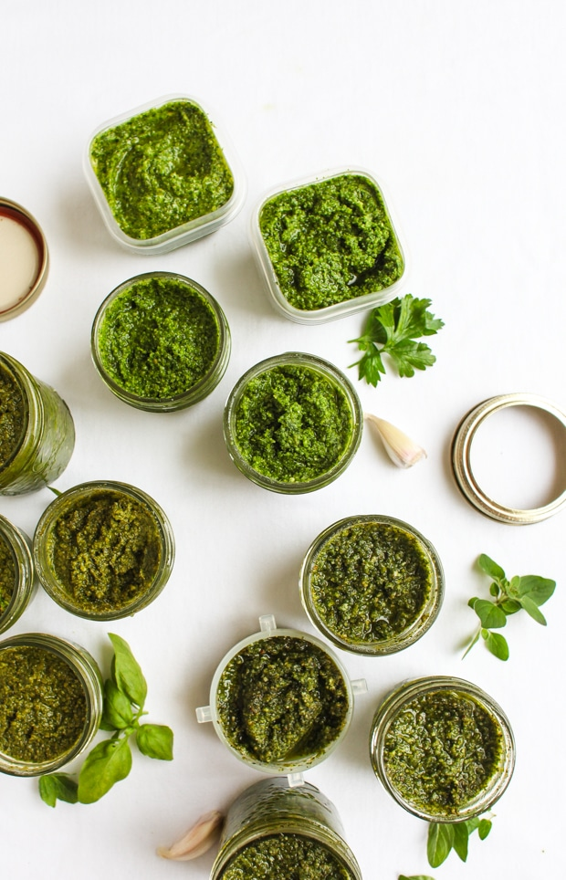 Three Fall Pesto Recipes (Oregano Hazelnut Pesto) || Simple Bites
