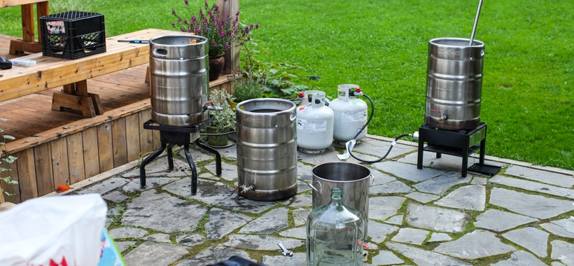 Backyard beer brew