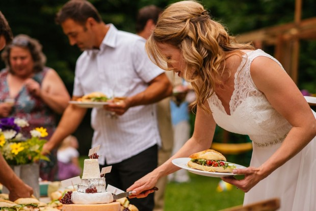 How to build a tiered cheese wheel wedding 'cake'|| Simple Bites #entertaining #tip #cheese #weddingcake