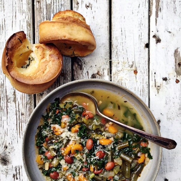Minestrone + Popovers from the Homemade Pantry || Simple Bites