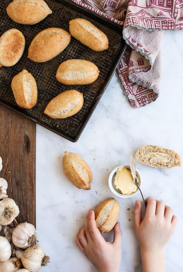 Kids in the Kitchen: Mexican Garlic-Oregano Bolillo Buns || Simple Bites