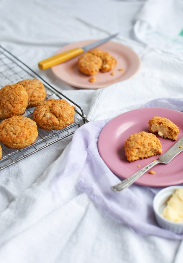 Sweet Potato Red Lentil Biscuits || Simple Bites #lovepulses