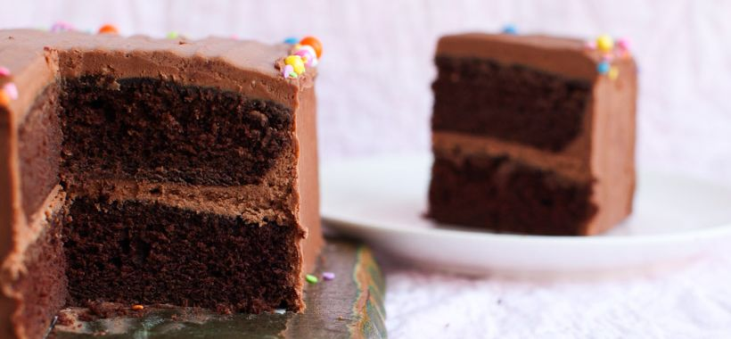 Feed-a-Crowd Perfect Chocolate Layer Cake || Simple Bites