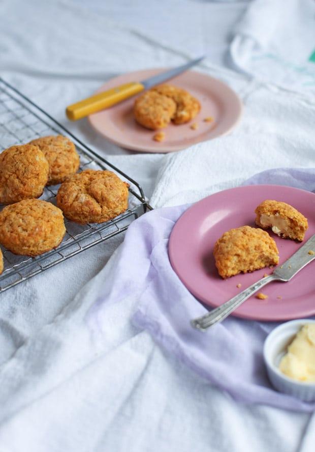 Tender Sweet Potato Red Lentil Biscuits    Simple Bites #lovepulses