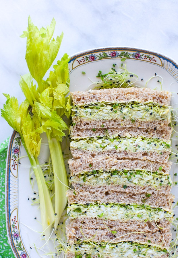 Herbed Avocado Egg Salad Tea Sandwiches    Simple Bites