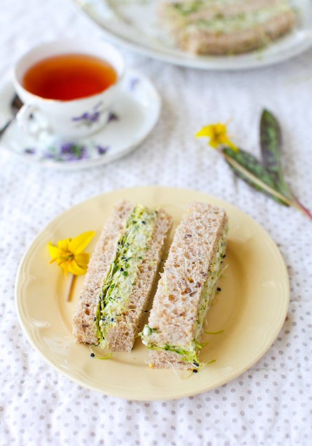 Herbed Avocado Egg Salad Tea Sandwiches || Simple Bites