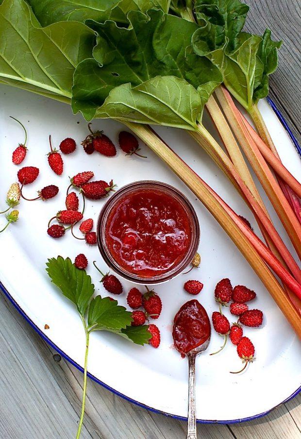 Honey-Sweetened Strawberry-Rhubarb Jam   Simple Bites