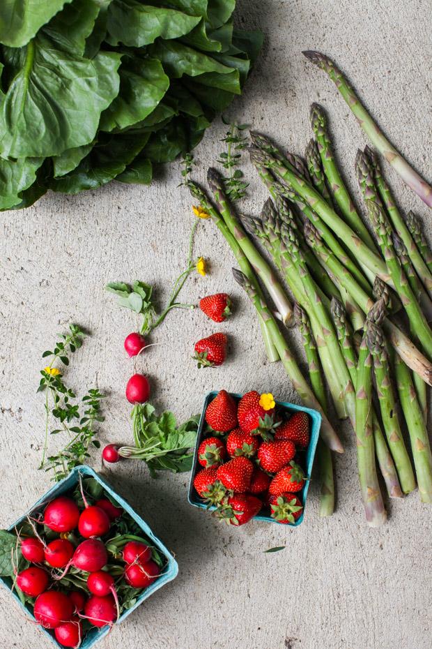 Spring produce asparagus strawberries   Simple Bites