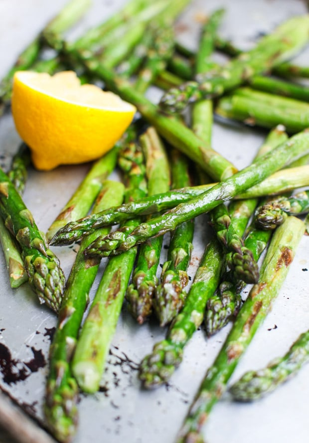 rRoasted Asparagus with Harissa Brown Butter Breadcrumbs    Simple Bites