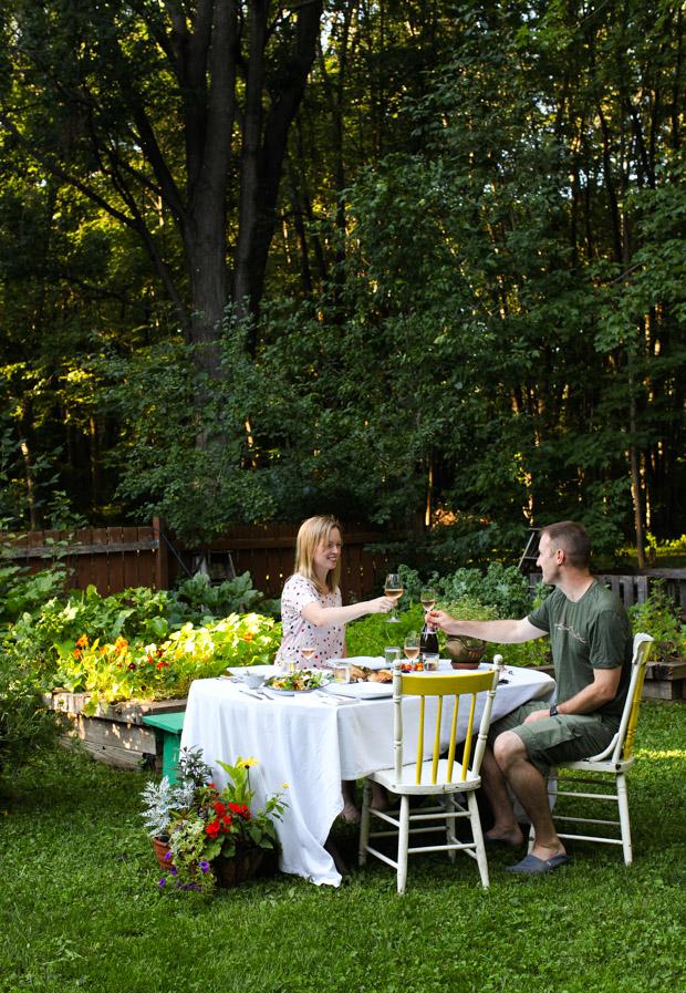 Harvest Dinner in the garden || Simple Bites