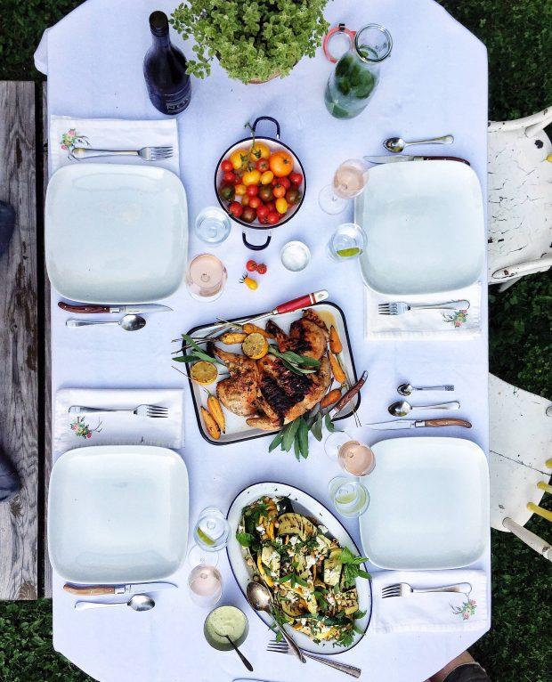 Harvest Dinner in the garden tablescape    Simple Bites