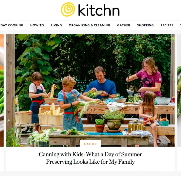 Canning with kids on Kitchn
