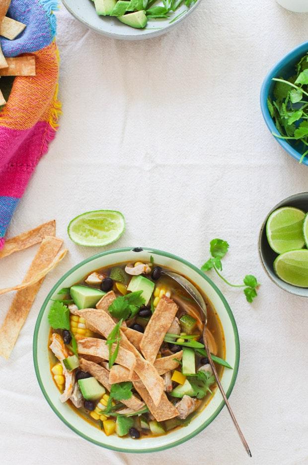Harvest Tortilla Soup || Simple Bites
