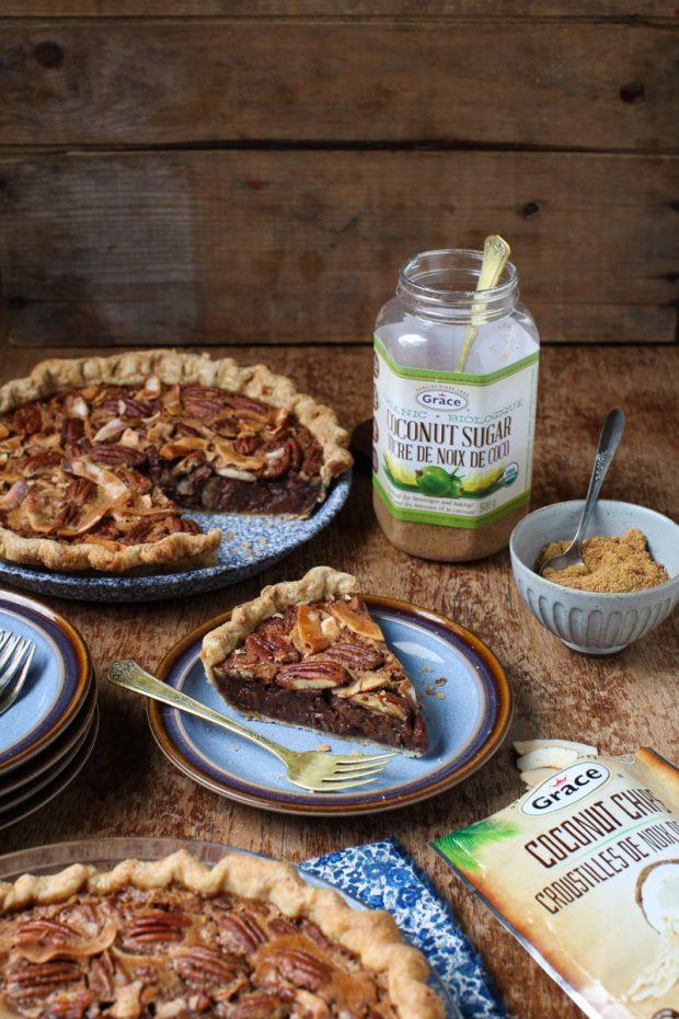 Coconut Sugar Pecan Pie with Grace Coconut    Simple Bites #Coconut4life