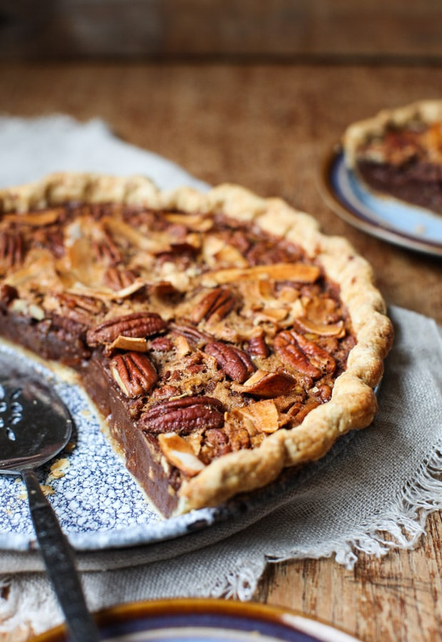 Marmalade Pecan Pie with Coconut Sugar, Bourbon and a hint of Chocolate    Simple Bites
