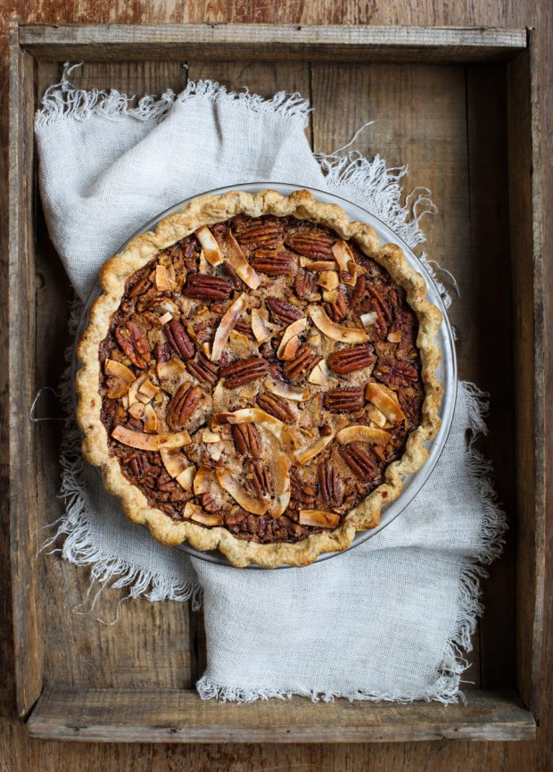 Marmalade Pecan Pie with Coconut Sugar, Bourbon and a hint of Chocolate || Simple Bites