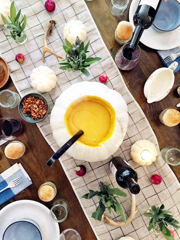 Squash soup tureen