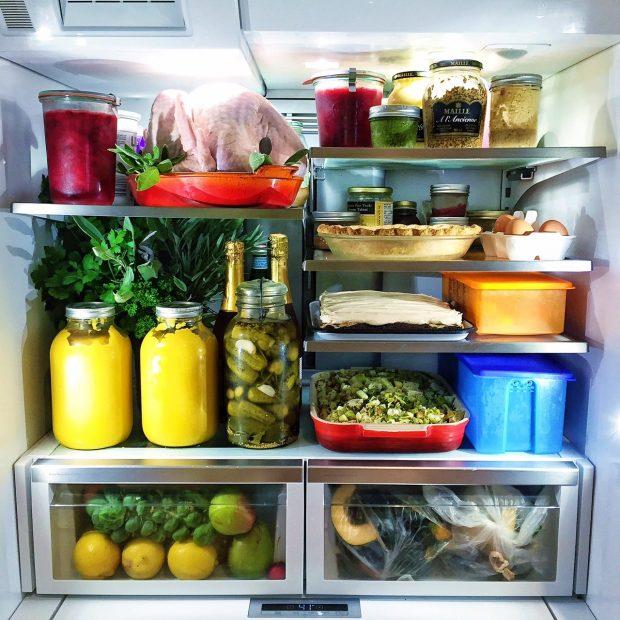 Thanksgiving fridge
